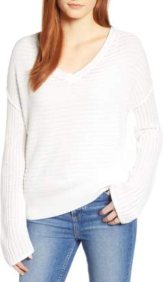 Caslon Tuck Stitch V-Neck Sweater