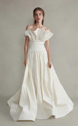 Demeter Markarian Strapless Gathered Silk Gown