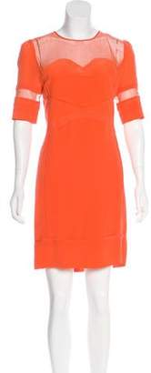 Victoria Beckham Victoria, Short Sleeve Silk Mini Dress w/ Tags
