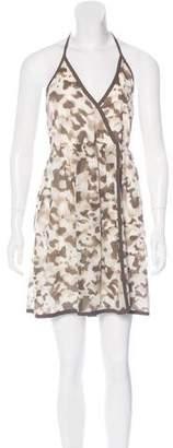 Alice + Olivia Silk Camo Print Dress