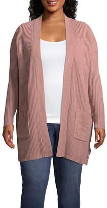 Arizona Long Sleeve Cardigan-Juniors Plus