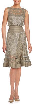 Tadashi Shoji Lace Flouncy Dress $419 thestylecure.com