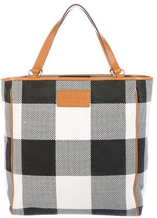 Kate SpadeKate Spade New York Leather-Trimmed Check Tote