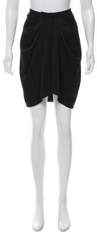 Balenciaga  Balenciaga Draped Knee-Length Skirt