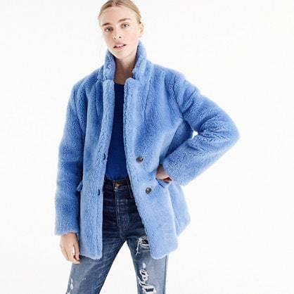 The Teddy coat in plush fleece