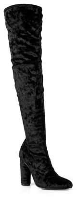 Fahrenheit Women's Over the Knee High Heel Boots