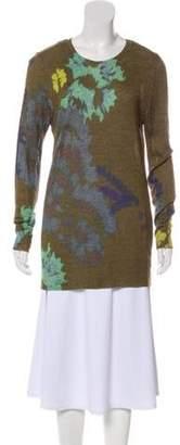 Dries Van Noten Silk Blend Sweater Olive Silk Blend Sweater