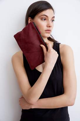 Velvet by Graham & Spencer AMELIA LEATHER ZIP CLUTCH