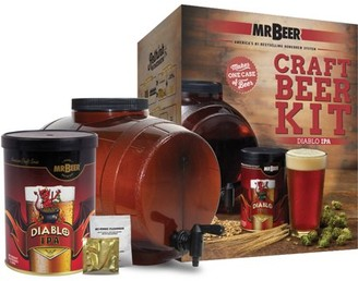 Mr. Beer Diablo IPA Craft Beer Making Kit with Convenient 2 Gallon Fermenter Designed for Simple and Efficient Homebrewing