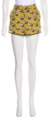Gucci Silk High-Rise Shorts