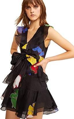 Cynthia Rowley Women's Rainbow WallFlower Ruffle Dress