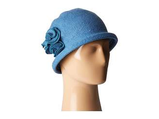 San Diego Hat Company CTH8088 Soft Knit Cloche with Side Flower