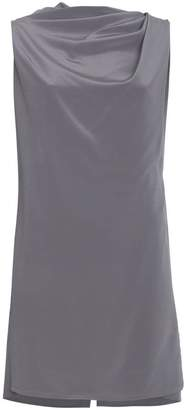Rick Owens Grey draped sleeveless top
