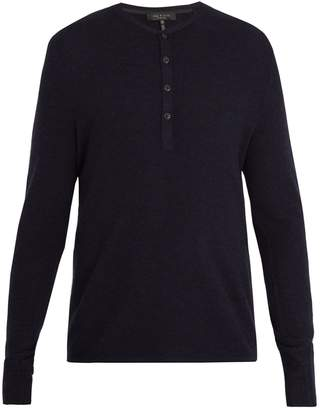 Rag & Bone Giles ribbed-knit wool henley top