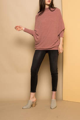 THML Clothing Slouchy Ribbed Sweater
