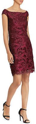 Lauren Ralph Lauren Scalloped Lace Mini Dress