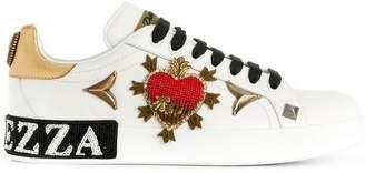 Dolce & Gabbana Portofino embroidered sneakers