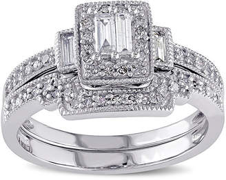 JCPenney MODERN BRIDE 3/8 CT. T.W. Diamond 10K White Gold Bridal Ring Set