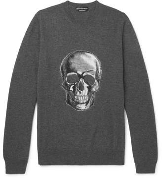 Alexander McQueen Skull-Instarsia Wool Sweater - Men - Gray