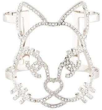 Chanel Choupette Cat Emoji Crystal Cuff