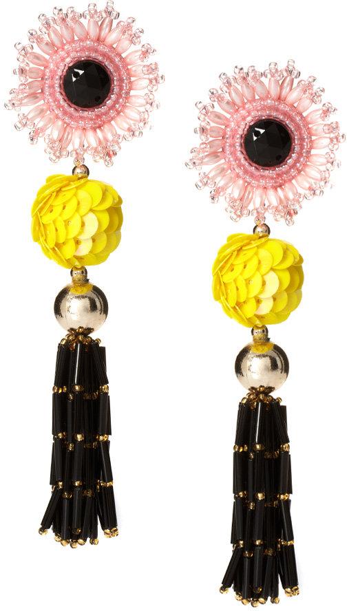 Danielle Scutt Flower Tassel Earrings