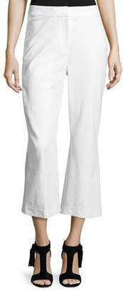 Kate Spade Cropped Flare Stretch Pants, Fresh White
