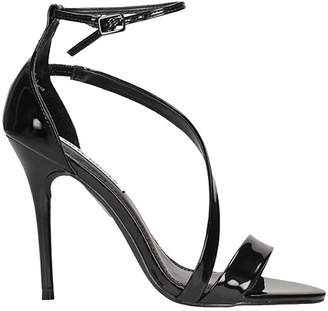 Steve Madden Sasha Black Patent Leather Sandals