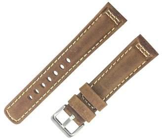 Dakota 28mm Padded Contrast White Stitch Geniune Leather Brown