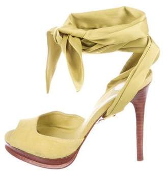 Diane von Furstenberg Suede Ankle-Strap Sandals