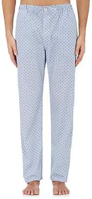 Barneys New York Men's Striped & Skull-Print Cotton Poplin Pajama Pants