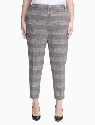 Calvin Klein plus size straight leg plaid pants
