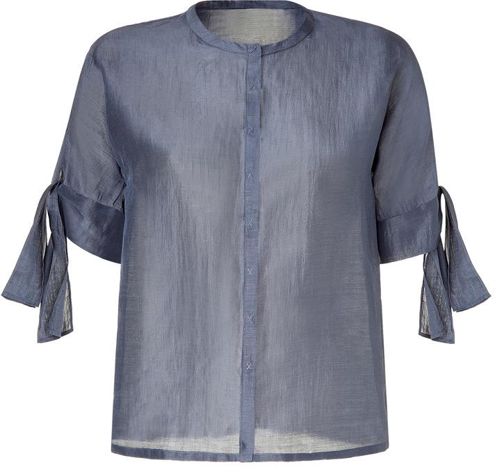 Cacharel Grey Three-Quarter Sleeve Tunic Top
