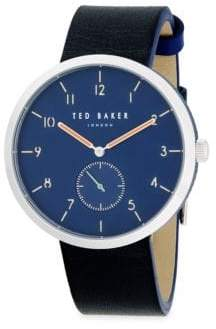 Ted Baker Chronograph Leather Strap Watch