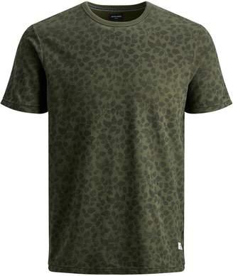 Jack and Jones Printed Crew Neck T-Shirt