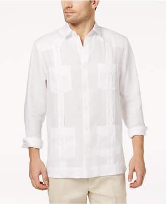 Tasso Elba Men's Linen Guayabera Shirt, Created for Macy's