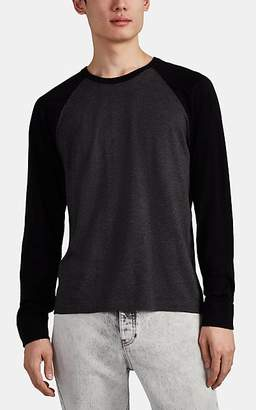 James Perse Men's Cotton Jersey Baseball T-Shirt - Charcoal