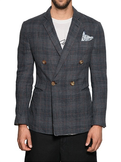 Giorgio Armani Deconstructed Linen Blend Jacket
