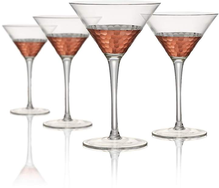 Artland Artland Coppertino Hammer 4-pc. Martini Glass Set