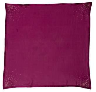 Christian Dior Stud-Embellished Silk Scarf
