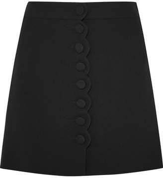 Chloé Scalloped Cady Mini Skirt - Black