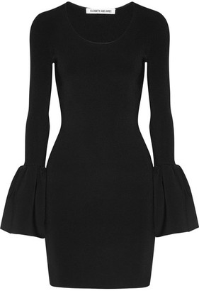 Elizabeth and James - Willomina Ribbed-knit Mini Dress - Black $395 thestylecure.com