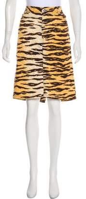 Dolce & Gabbana Printed Twill Skirt