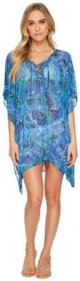 Lauren Ralph Lauren Exotic Paisley Laced Tunic Cover-Up Women's Swimwear