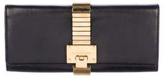 MICHAEL Michael Kors Leather Flap Clutch