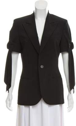 Jean Paul Gaultier Notch-Lapel Short Sleeve Blazer