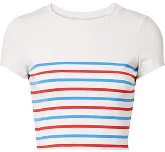 Solid & Striped The Meghan Striped Bikini Top - Blue