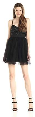 BCBGeneration Women's Lace-Bodice Dress with Sequins and Tulle