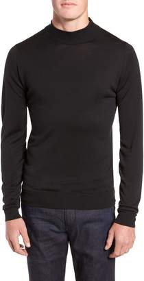 John Smedley Slim Fit Mock Neck Merino Wool Sweater