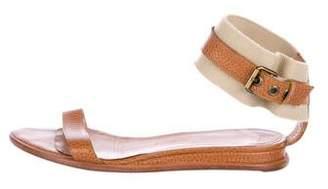 Walter Steiger Embossed Ankle Strap Sandals