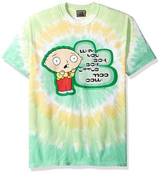 Liquid Blue Unisex-Adults Family Guy Sick Little Moo Cow Tie Dye Short Sleeve T-Shirt
